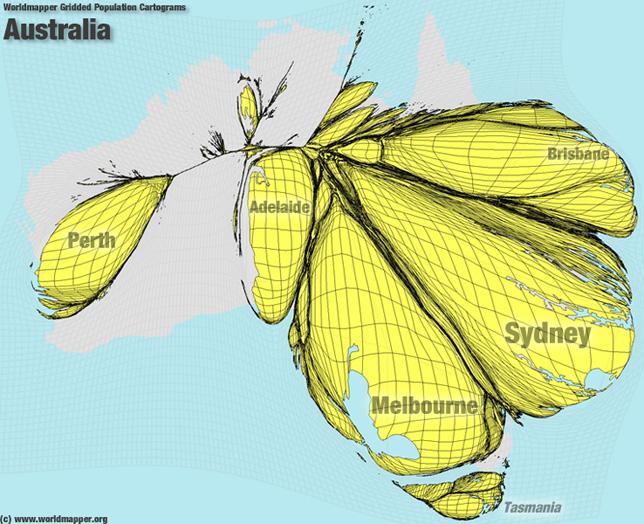 Australien Bevölkerung Verteilung
